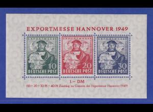 Bizone Hannover-Messe Blockausgabe Mi.-Nr. Block 1a ** gpr. SCHLEGEL BPP