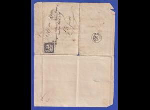 Frankreich 1859 Portomarke 10 C. Steindruck Mi.-Nr. 1 auf Brief