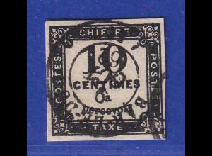 Frankreich 1859 Portomarke 10 C. Buchdruck Mi.-Nr. 2 zentr. gestempelt