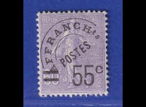 Frankreich 1926 Freimarke Säerin mit Aufdruck 55 C Mi.-Nr. 199 ungebraucht *
