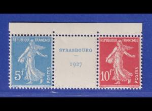 Frankreich 1927 Einzelmarken aus Block 2 Mi.-Nr. 218 und 219 **