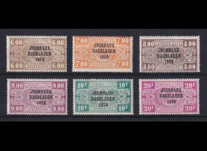 Belgien 1928 Zeitungspaketmarken 6 hohe Werte Mi.-Nr. 14-19 ungebraucht *