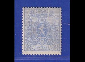 Belgien 1867 Zeitungsmarke 2 C ultramarin Mi.-Nr. 21Cb ungebraucht *