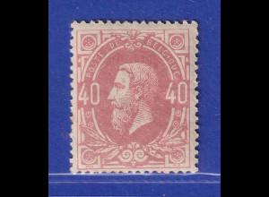 Belgien 1870 Freimarke 40 C mattrosa Mi.-Nr. 31A ungebraucht *