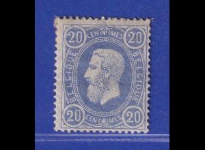Belgien 1869 Freimarke 20 C ultramarin Mi.-Nr. 28Aa ungebraucht *