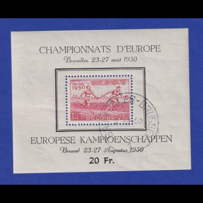 Belgien 1950 Blockausgabe Leichtathletik-EM Mi.-Nr. Block 23 gestempelt