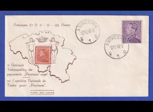 Belgien 10.12.1949 Souvenir-Umschlag Briefmarken-Ausstellung Poortman