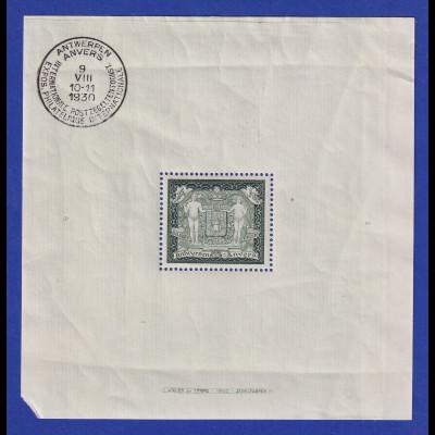 Belgien 1930 Blockausgabe Ausstellung Antwerpen Mi.-Nr. Block 1 ** fehlende Ecke