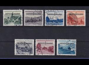 Liechtenstein 1947 Dienstmarken Mi.-Nr. 28-34 Satz kpl. gestempelt