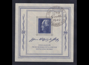 Sowjetische Zone allg. Ausgaben Goetheblock 1949 Mi.-Nr. Block 6 mit So-O WEIMAR