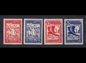 Spanien 1936-37 Lokalausgabe Bürgerkrieg VINEBRE 4 Werte gezähnt **