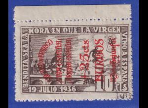 Spanien Lokalausgabe 1936 Burgos 10Cts. mit Aufdruck VIVA ESPANA gest.