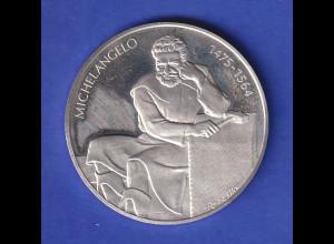 Silber-Medaille 1975 Michelangelo , 20g