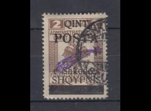 Albanien 1919 Stempelmarke mit Aufdruck Mi.-Nr. 47 III gestempelt