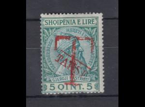 Albanien 1914 Portomarke Mi.-Nr. 2 ungebraucht *