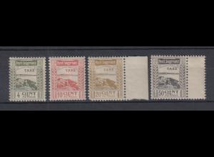 Albanien 1920 Portomarken-Probedrucke Mi.-Nr. 14-17 PA Satz kpl. ungebraucht *