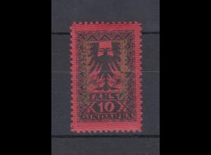 Albanien 1922 Portomarke Mi.-Nr. 23 mit GOLDENEM Aufdruck ungebraucht *