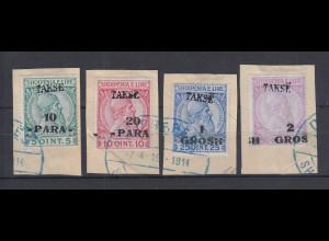Albanien 1914 Portomarken Mi.-Nr. 6-9 Satz kpl. gestempelt
