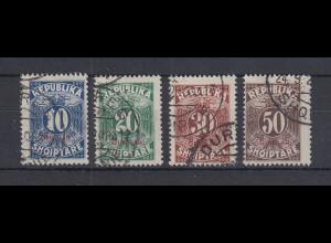 Albanien 1925 Portomarken Mi.-Nr. 26-29 Satz kpl. gestempelt
