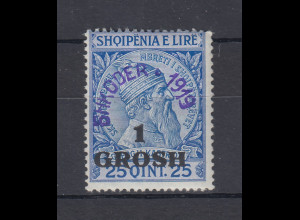 Albanien 1919 Lokalausgabe Shkodra Mi.-Nr. 7 ungebraucht *