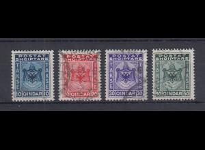 Albanien 1930 Portomarken Mi.-Nr. 30-33 gestempelt