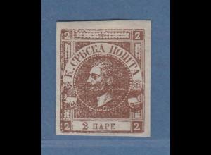 Serbien 1867 Fürst Michael III. 1 Pa Mi-Nr. 10Bb ungebraucht (*)