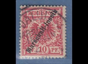 Dt. Kolonien Marshall-Inseln 10Pfg Mi-Nr. 3 I gest. JALUIT (1. Stempel) gpr. BPP