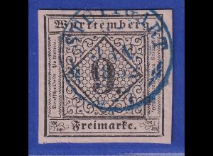 Württemberg 1851 9Kreuzer Mi.-Nr. 4a mit blauem O STUTTGART gpr. Heinrich BPP