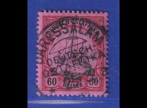 Deutsch Ostafrika 60 Heller mit Wz. Mi.-Nr. 37 O DARESSALAM gpr. Jäschke BPP