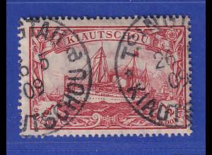 Dt. Kolonien Kiautschou 1/2 $. Mi.-Nr. 34 gest. gepr. Jäschke BPP