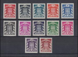 Saarland 1949 Dienstmarken Mi-Nr. 33-44 Satz kpl. **