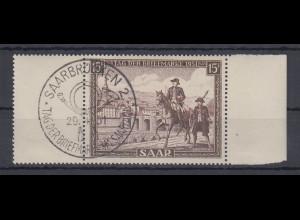 Saarland 1951 Tag der Briefmarke Mi-Nr. 305 mit Ersttags-Sonderstempel