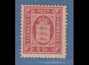 Dänemark 1871 Dienstmarke Wappen 4 Sk. Mi.-Nr. 2A ungebraucht *
