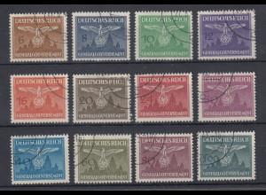 Generalgouvernement 1943 Dienstmarken Burg Krakau Mi.-Nr. 25-36 kpl. Satz O