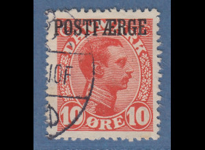 Dänemark Postfähre POSTFAERGE 10 Öre rot Mi.-Nr. 1 gestempelt
