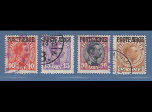 Dänemark Postfähre POSTFAERGE Mi.-Nr. 1-4 Satz kpl. gestempelt