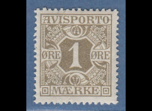Dänemark Verrechnungsmarken Avisporto 1914 1 Öre Mi.-Nr. 1Y ungebraucht *