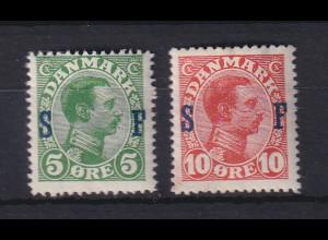 Dänemark 1917 Militärpostmarken Mi.-Nr. 1-2 ungebraucht *