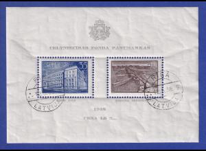 Latvija / Lettland 1938 Blockausgabe Baufonds Mi.-Nr. Block 1 gestempelt O