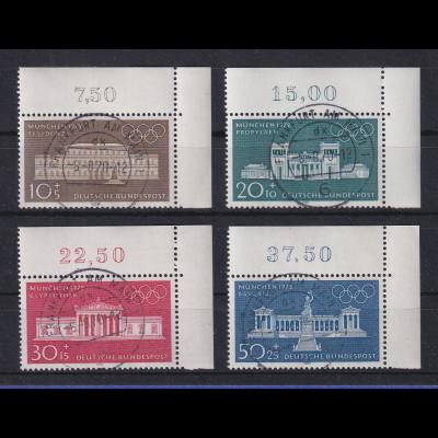 1970 Olympische Spiele 624-27 Eckrand-Satz oben rechts zentr. O FRANKFURT