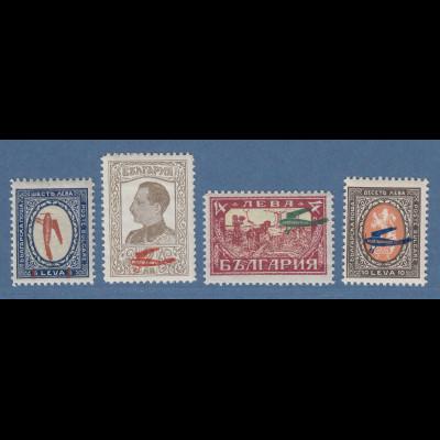Bulgarien 1927 Flugpostmarken Mi.-Nr. 206-209 Satz 4 Werte postfrisch **