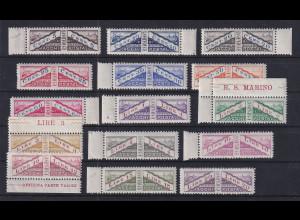 San Marino 1928 Paketmarken Mi.-Nr. 1-15 Satz 15 Werte kpl. postfrisch **