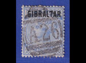Gibraltar 1886 2 1/2 P. ultramarin Mi.-Nr. 4 gestempelt