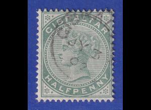 Gibraltar 1898 1/2 P. graugrünt Mi.-Nr. 8b gestempelt