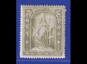 Malta 1889 Schutzpatronin 2 Shilling/ 6 Pence Mi.-Nr. 13 ungebraucht *