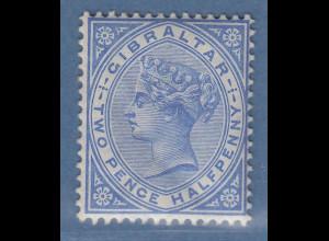 Gibraltar 1898 Victoria 2 1/2 P. ultramarin Mi.-Nr. 11b ungebraucht *