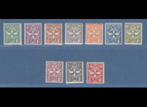 Malta 1925 Portomarken Malteserkreuz Mi.-Nr. 11-20 Satz kpl ungebraucht *