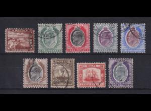 Malta 1904-06 Freimarken Mi.-Nr. 24-32 Satz 9 Werte kpl. gestempelt