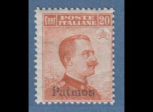 Ägäische Inseln Patmos 20 Cent braunorange OHNE Wz. Mi.-Nr. 11 VIII *