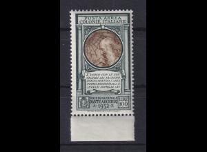 Italienische Kolonien 1932 Dante-Gesellschaft Leonardo da Vinci Mi.-Nr. 19 **